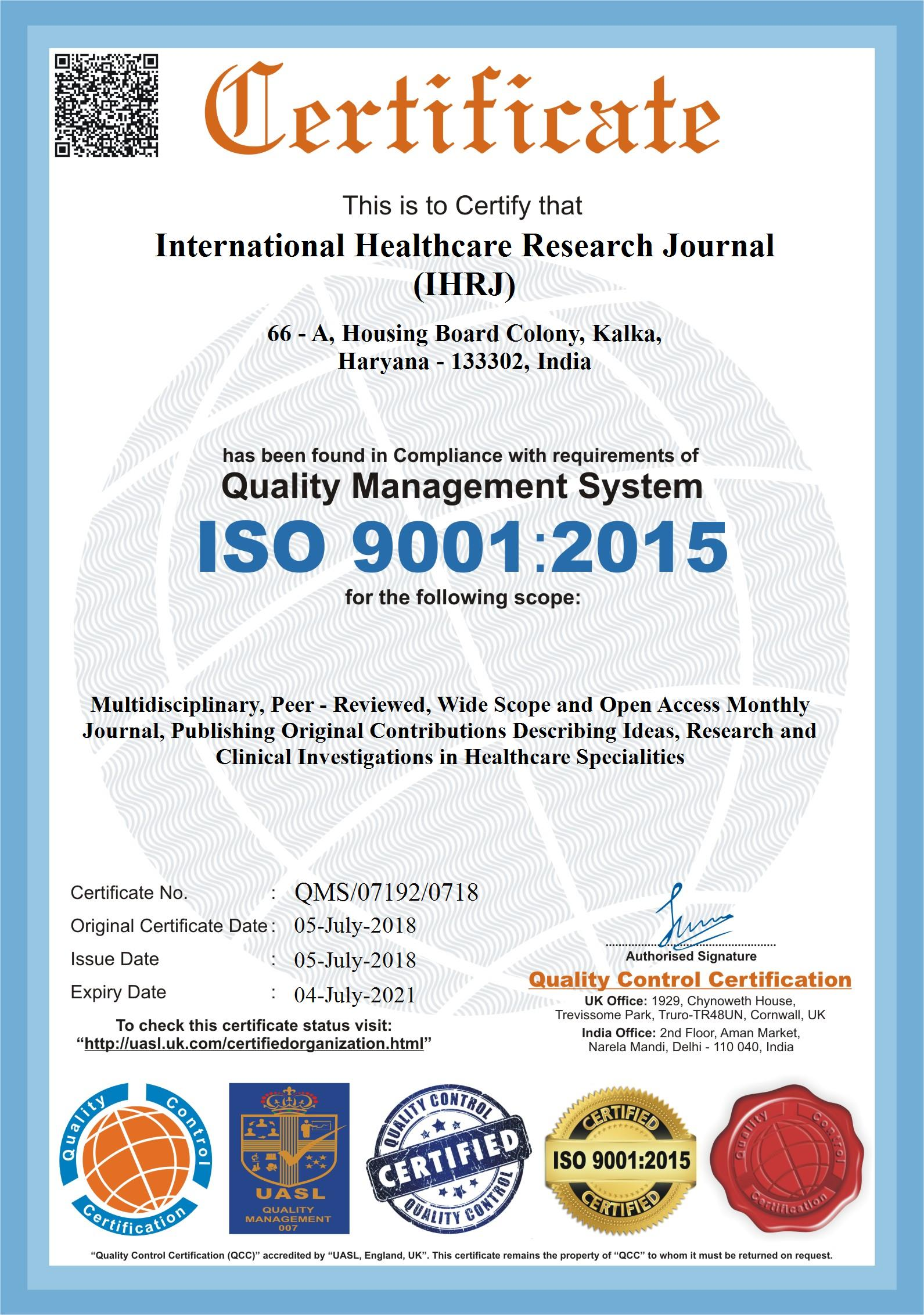 iso certification 9001 international
